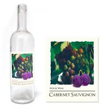 Wine Bottle Labels Self Adhesive Home Brew Label 30 PACK Cabernet Sauvignon