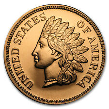 5-count 1929 Indian Penny 0.999 Fine 1//4 Oz Copper Bullion Round Coin