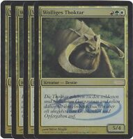 TCG 85 MtG Magic the Gathering Wolliges Thoktar Gateway Promo Foil Playset (4)