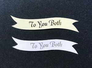 To You Both banners/card toppers on 300gsm quality boards pk10