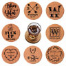5/SET Coasters Personalized Wooden Cork Coaster Custom Wedding Housewarming Gift