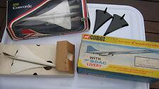CORGI 650  PAIR OF BRITISH AIRWAYS & BOAC LIVERY  CONCORDES BOTH BOXED ORIGINALS