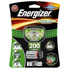 Energizer Vision HD+ LED Headlight Hands Free Headtorch 200 Lumens Headlamp
