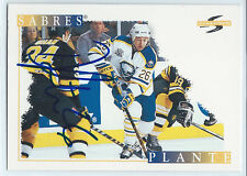 Derek Plante signed 1995-96 Score hockey card Buffalo Sabres autograph #213