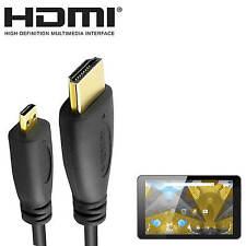 Alba 8 Pulgadas Android Tablet Pc Hdmi Micro Hdmi A Tv 2m Oro Cable de alambre de cable de plomo