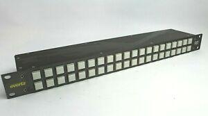 Evertz Quartz CP-3201E Router Control Panel 40 Illuminated Pushbuttons