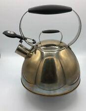 Farberware Millennium Whistling Stovetop Tea Kettle; 2.5 Quart Stainless Steel
