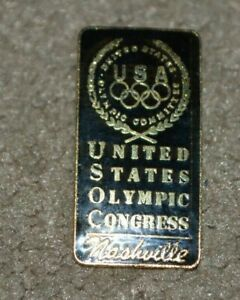 Vtg United States Olympic Congress Nashville Tennessee Pin USA