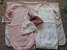 NWT 5pc OLD NAVY BABY Newborn Gift Set Blanket & Gowns Sleep Sack Sleepers Hats