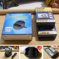 2X EN-EL3e Batería + Cargador para Nikon D200, D300, D700, D90, D80 D50 D70 D70S