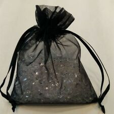 "30 Black 4 x 4.5""Organza Gift Bag Pouch Wedding Favor"