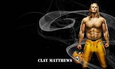 "065 William Clay Matthews III - American Football Linebacker NFL 23""x14"" Poster"