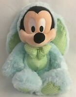 Disney Store Mickey Mouse Easter Bunny Rabbit Stuffed Animal Plush 16in Genuine