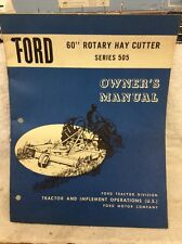 Ford Tractor 505 Rotary Hay Cutter Operator's Manual CHPA