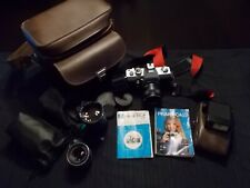 Praktica LTL3 35mm Film Camera with 3 Lenses, Flash, Strap and Bag