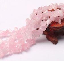 Natural DIY rose crystal quartz jewelry gemstone freeform chip loose beads 16'