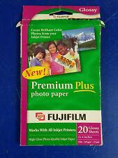 "FUJIFILM PREMIUM PLUS PHOTO PAPER Lot 8 pk of 20 = 160 GLOSSY SHEET 4/'x6/"" FUJI"