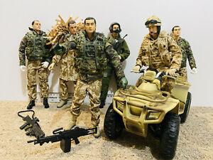 HM Armed Forces Military Action Figures Bundle Quad Pilot Commando Lot Spares
