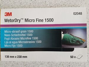 3M 02048 Micro Fine 1500 Grit Wet and Dry 50 Sheets