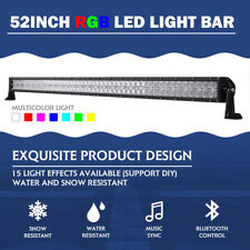 52inch 1000W CREE RGB LED Light Bar Strobe Flash Multi Color Halo Ring Bar Disco
