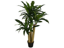 LARGE FAUX DRACAENA TREE PLANT IN POT ARTIFICIAL FLOWER FAKE FLORAL GARDEN DECOR