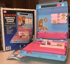 Ohio Art Singer Children's Sewing Center Toy Machine in Box 1984 >IT WORKS!< USA