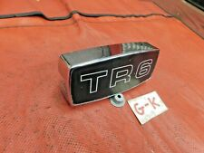 Triumph TR6, Front Grille Center Emblem & Chrome Bracket, ORiginal, !!