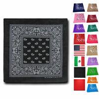 Casaba Paisley Printed 100% Cotton Bandana Face Covering Neck Wrap Scarf