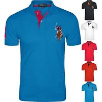 Mens US Polo Assn Short Sleeve Big Pony Contrast Lauren Polo T-Shirt Top Lot
