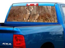 P449 Deer Buck Rear Window Tint Graphic Decal Wrap Back Pickup Graphics