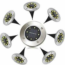 Solar Ground Lights, 8 LEDs Solar Pathway Lights with IP65 Waterproof,Outdoor