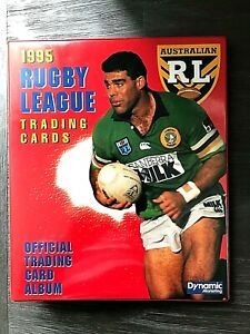 1995 ARL SERIES I & II COMPLETE COMMON 440 TRADING CARDS- INCLUDES ALBUM/SLEEVES