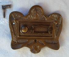Geschenknet Antik Messing Klingel 1 Jugendstil Klingelschild Klingelplatte  K25A