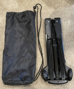 Embark Folding Luggage Cart Black One Size Very Compact and Handy