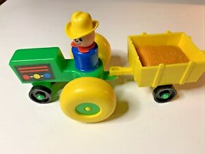 Fisher Price Tractor Trailer & Farmer Little People
