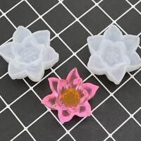 1PC Transparent Silicone Mould Decorative Craft DIY Three-dimensional Lotus M MW