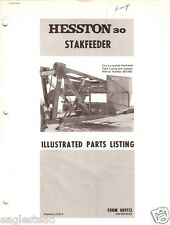 Farm Manual - Hesston - Stakfeeder 30 - Illustrated Parts List (FM254)