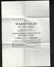 """1897 Bloomington,IL - Dr. Homer Wakefield """"The Wakefields"""" Brochure/Cover/PC"""