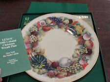 Lenox Colonial Christmas Wreath Plate 1989 New York