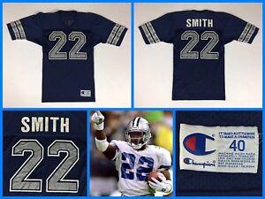 Men's Vintage 1990s EMMITT SMITH Dallas Cowboys CHAMPION Jersey - 40 - USA MADE!
