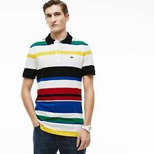 NEW LOCOSTE MULTI STRIPE SLIM FIT POLO SHIRT MEN'S US SMALL EUR 3