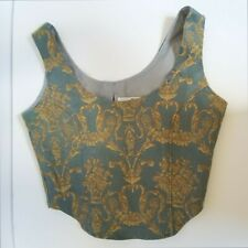 Bustier Top Size S Great Condition, Blue Gold. Great condition!