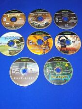 Lot of 7 Xbox Games Psychonauts Theif Morrowind Predator Half Life 2 HALO 2 Maps
