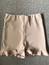 Nude Frill Cycling Shorts Uk8 Summer Festival Towie Celeb Kylie Party Glam Kim