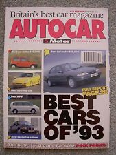 Autocar (29 Dec 1993) Review of the year, cars of the year, 1993 index