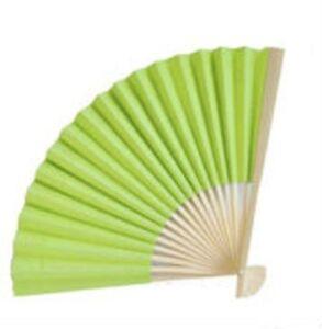 Light Lime Paper Fan Beach Wedding Fans Favors