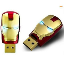 2PCS 16GB Gold Avengers Iron Man USB 2.0 Flash Drives Memory Sticks Pen Drives