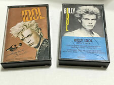 Billy Idol Cassette Tape Lot Don't Stop MTV Interview Whiplash Smile 80s Vintage