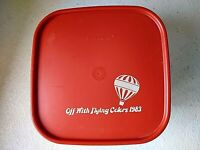 Tupperware Vtg 1983 Square 11c. Modular Mate 2 Flying Colors Balloon 1620-4 2.8L