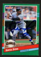 Kevin Bass #630 signed autograph auto 1991 Donruss Baseball Trading Card